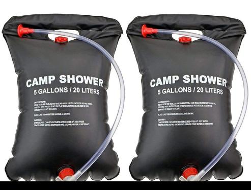 Douche solaire camping en plastique