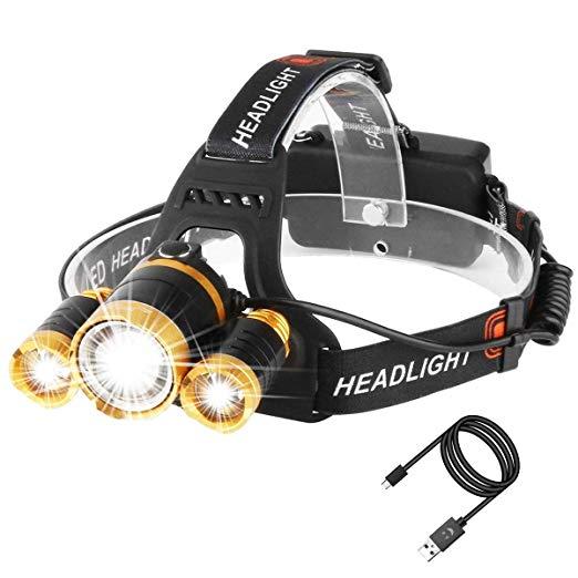 """Résultat de recherche d'images pour """"Lampe frontale rechargeable 5000 lumens"""""""